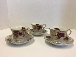 Royal Sealy China Tea Cups and Saucer Set
