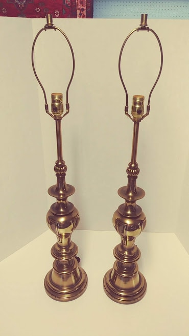 Vintage Stiffel Lamps >> Stiffel Brass Lamps Vintage Pair 3 Way Bulbs Traditional Style Table Lamps Bohemian S