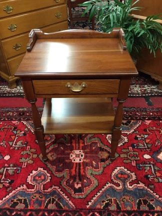 Cherry One Drawer End Table (Attributed to Pennsylvania House)