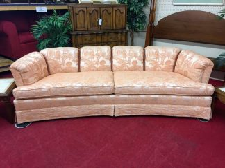 Drexel Heritage Pink Curved Oriental Style Sofa
