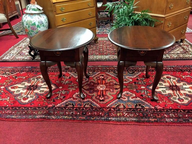 Wondrous Kincaid Cherry End Table Set Home Interior And Landscaping Fragforummapetitesourisinfo