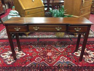 Kittinger Mahogany Three Drawer Sofa Table