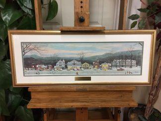 "Norman Rockwell ""Stockbridge Main Street at Christmas"" Print"