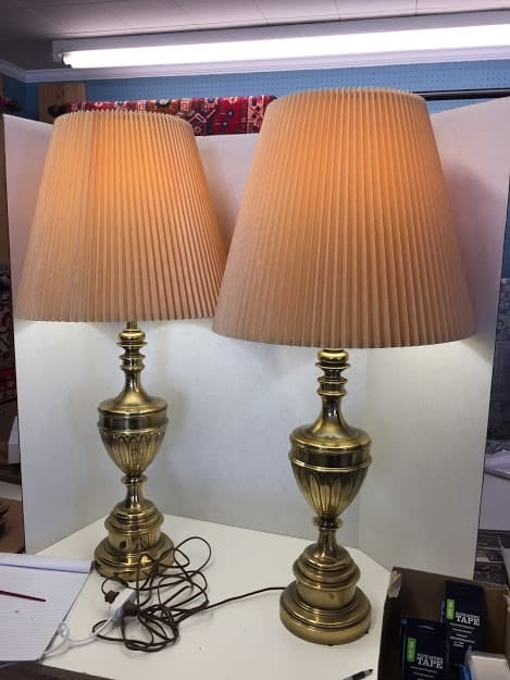 Pair Of Br Lamps By Stiffel Worth