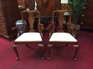 Henkel Harris Queen Anne Arm Chairs