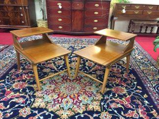 Lane Mid Century Modern Lamp Tables (Pair)