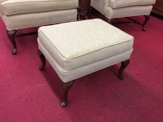 Wheat Colored Queen Anne Ottoman