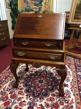 Mahogany Ball and Claw Foot Secretary Desk