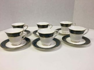 "Royal Doulton ""Carlyle"" Cups and Saucer Set"