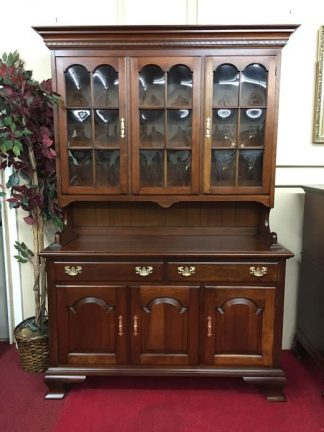 Pennsylvania House Hutch Cabinet with Bubble Glass