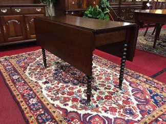 Antique Drop Leaf Table with Spindle Legs