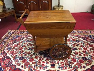 Vintage Oak Tea Cart