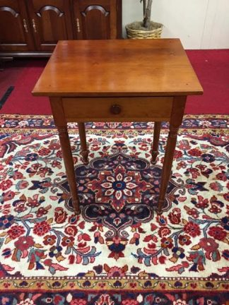 Antique Cherry One Drawer Table