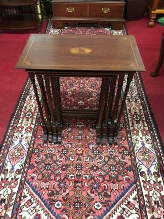 Mahogany Inlaid Nesting Tables