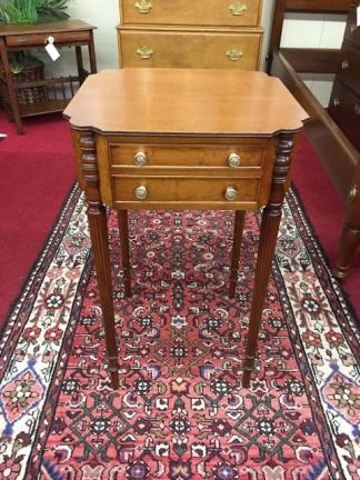 Unusual Tiger Maple End Table
