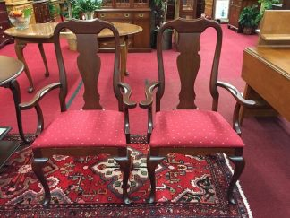 Cherry Queen Anne Arm Chairs