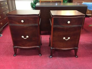 Vintage Pair of Mahogany Nightstands