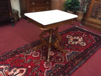 Antique Marble Top Victorian Table