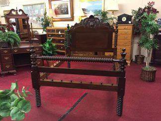 Carved Antique Rope Bed