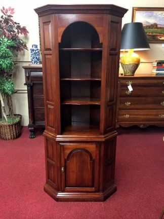 Cherry Paneled Corner Cabinet