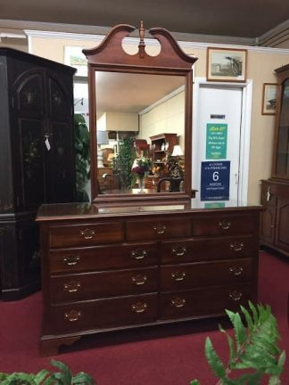 Knob Creek Nine Drawer Dresser with Mirror