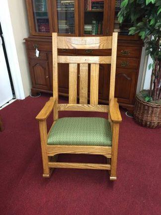 Oak Mission Style Rocking Chair
