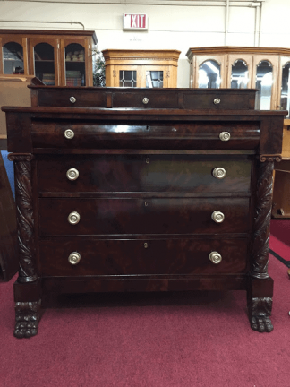 Antique Hairy Paw Empire Chest