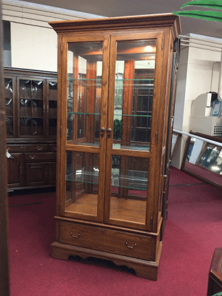 Pennsylvania House Oak Lighted Curio Cabinet