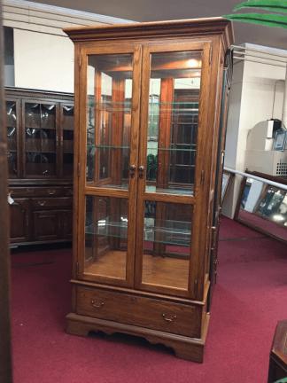 Pennsylvania House Oak Lighted Curio Cabinet
