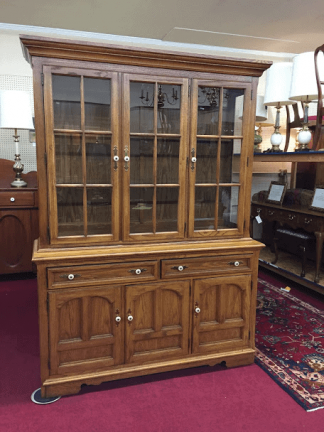 Thomasville Oak Hutch Cabinet
