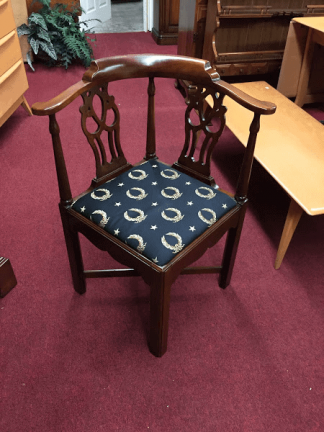 Mahogany Chippendale Corner Chair