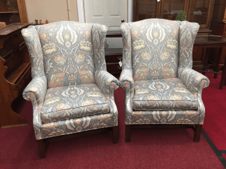 Upholstered Wing Back Chairs
