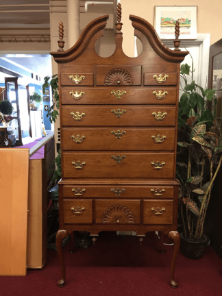 Cherry Chippendale Highboy (Attributed to Councill Craftsmen)