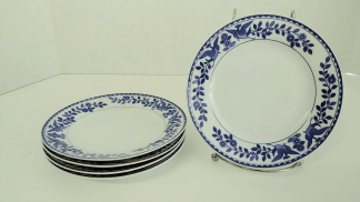 "Nippon ""Royal Sometuke"" Cake Plates - Set of Five"
