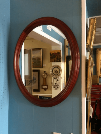 Statton Cherry Oval Mirror