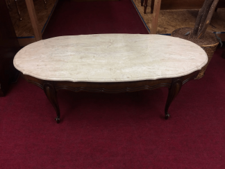 Vintage Hammary Faux Marble Top Coffee Table