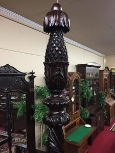 antique pineapple carved bed