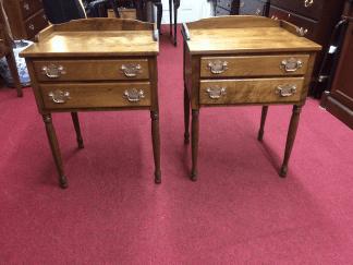 Ethan Allen Baumritter Maple End Tables