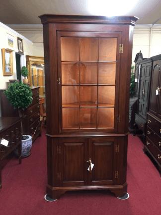 Cherry Corner Cabinet, Henkel Harris Furniture