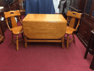 Vintage Maple Drop Leaf Table and Chairs