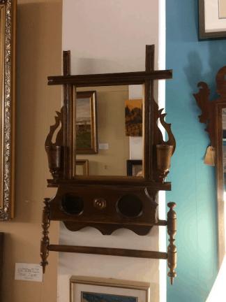 Antique Victorian Shaving Mirror