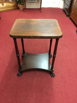 Vintage Mahogany Stand, Claw Foot Table