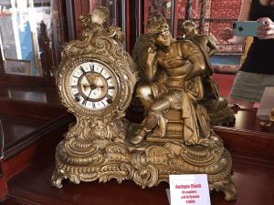 gallery furniture, antique clock