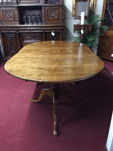 tiger maple table, unique furniture
