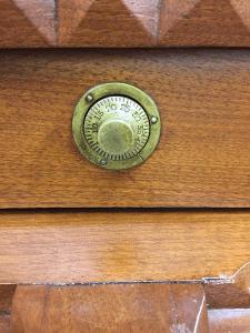 antique desk combination lock