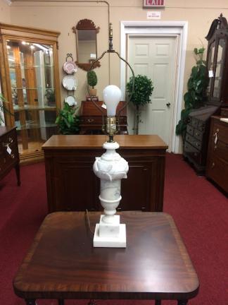 Vintage White Alabaster Lamp