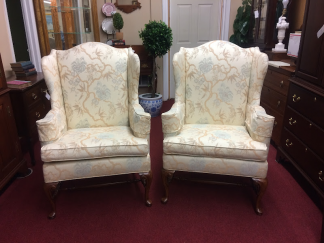 Vintage Gilliam Wing Back Chairs