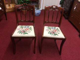 Vintage Tell City Chairs, Victorian Style