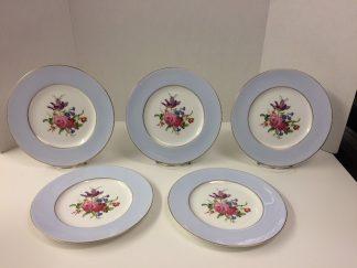 Royal Worchester Dinner Plates, Set of Five