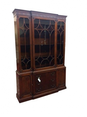 Vintage Mahogany Breakfront Cabinet